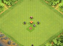 Noob trap 1.0 TH 1 Clash of Clans Base Layout