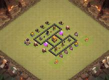 TH4 Base TH 4 Clash of Clans Base Layout