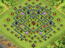 trophy TH 10 Clash of Clans Base Layout