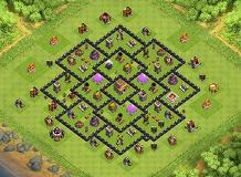 Deff TH 8 Clash of Clans Base Layout