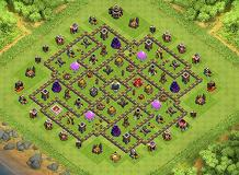 Hall 9 TH 9 Clash of Clans Base Layout