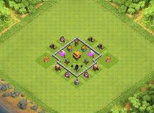 Town Hall 3 Base TH 3 Clash of Clans Base Layout