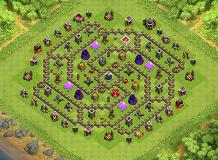 Labirin TH 9 Clash of Clans Base Layout