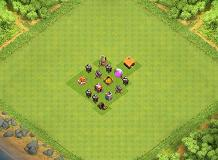 Town Hall 1 Farming TH 1 Clash of Clans Base Layout