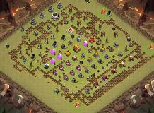 Frog Buster TH 4 Clash of Clans Base Layout