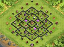 Amirhossein TH 8 Clash of Clans Base Layout