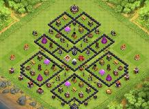 Moth TH 9 Clash of Clans Base Layout