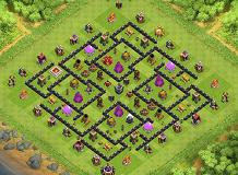 Manji TH 9 Clash of Clans Base Layout