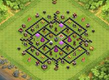 d'1989worldTour BASE TH 8 Clash of Clans Base Layout