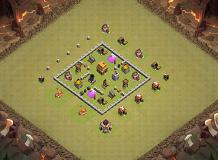 TH 4 WAR BASE TH 4 Clash of Clans Base Layout