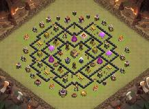 Current War Base TH 8 Clash of Clans Base Layout