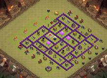 wewewe TH 8 Clash of Clans Base Layout