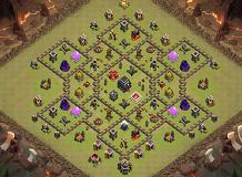 Warming TH 9 Clash of Clans Base Layout