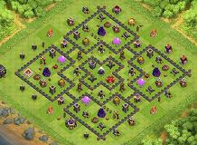 mtr021 th9 TH 9 Clash of Clans Base Layout
