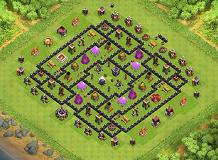 TH9 - Farming TH 9 Clash of Clans Base Layout