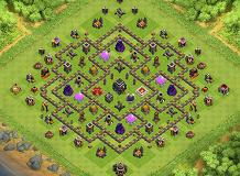 Two TH 9 Clash of Clans Base Layout