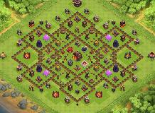 top1 TH 10 Clash of Clans Base Layout