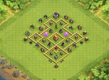 my layout TH 6 Clash of Clans Base Layout