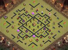 ultra defense TH 8 Clash of Clans Base Layout
