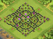 imposible TH 8 Clash of Clans Base Layout