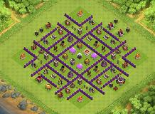 Town hall 8 TH 8 Clash of Clans Base Layout