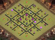 thw TH 8 Clash of Clans Base Layout