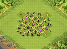 Town Hall 5 TH 5 Clash of Clans Base Layout