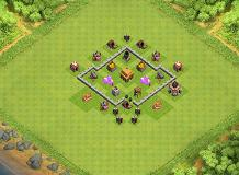 haha TH 3 Clash of Clans Base Layout