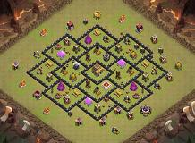 Anti Dragon TH 8 Clash of Clans Base Layout