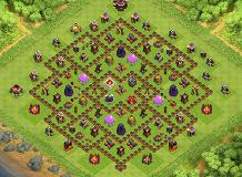 my new home TH 10 Clash of Clans Base Layout