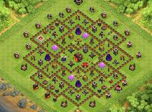 UNDERTAKER TH 10 Clash of Clans Base Layout