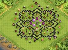 123 TH 8 Clash of Clans Base Layout