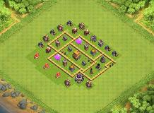 Town Hall 5 the best in the world TH 5 Clash of Clans Base Layout