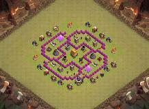 zeia base TH 6 Clash of Clans Base Layout