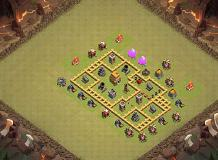 CLASH OF CLAN TH 6 Clash of Clans Base Layout