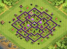 best TH 8 Clash of Clans Base Layout