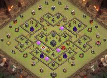 War Base 024 TH 9 Clash of Clans Base Layout
