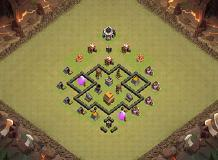 Legend Bases War TH 4 TH 4 Clash of Clans Base Layout