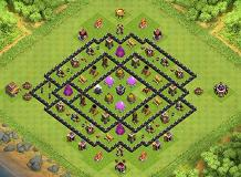 best farm plan TH 8 Clash of Clans Base Layout