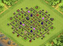 Hybrid TH 9 Clash of Clans Base Layout