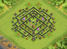 gininjaer TH 8 Clash of Clans Base Layout
