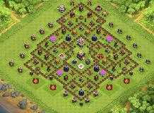 TH11 hybrid TH 11 Clash of Clans Base Layout