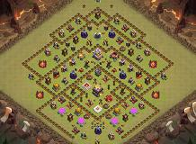 War   Trophy TH 11 Clash of Clans Base Layout
