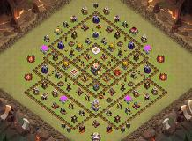 Town Hall 11 War Base TH 11 Clash of Clans Base Layout