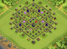 farming TH 9 Clash of Clans Base Layout