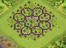 Octagon update TH 8 Clash of Clans Base Layout