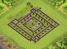 shield TH 8 Clash of Clans Base Layout