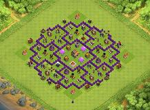WAR, FARMING, TROPHY AND HYBRID BASE!!! TH 8 Clash of Clans Base Layout