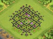 Testing OCD Th8 Base TH 8 Clash of Clans Base Layout