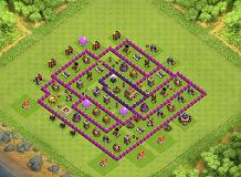 Pinkytown TH 8 Clash of Clans Base Layout